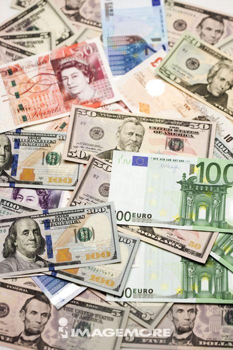 金融,货币,纸币,英镑,欧元,美钞,美元纸钞,多国货币,钱