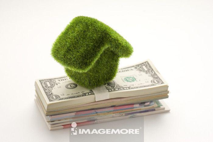 金融,货币,纸币,钱,房子,美钞,美元纸钞,多国货币
