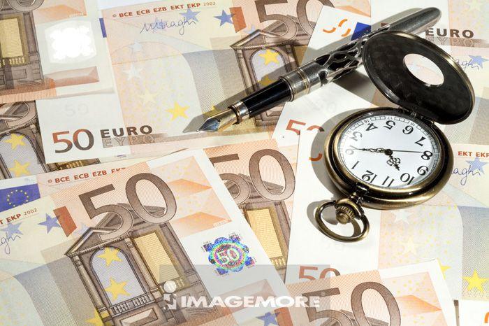 金融,货币,纸币,钱,欧元,钢笔,表