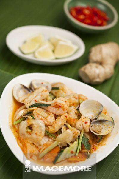 东南亚美食,美食,辣炒海鲜,海鲜,辣椒,泰国,泰国文化,泰国料理,前景对