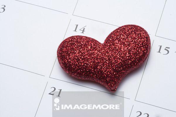 心型,爱情,日历