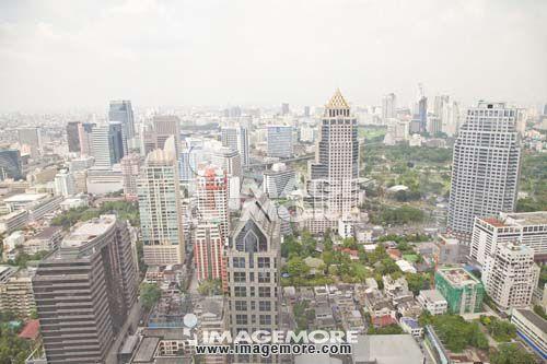 泰国,曼谷,街景,大厦,建筑物