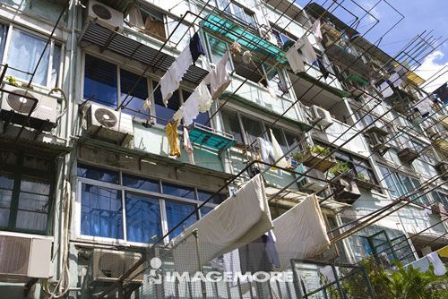 亚洲,中国,上海,住宅区