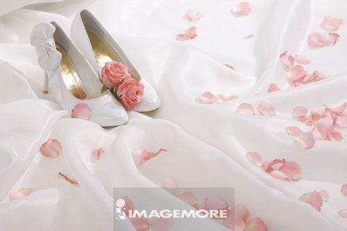 玫瑰,,高跟鞋