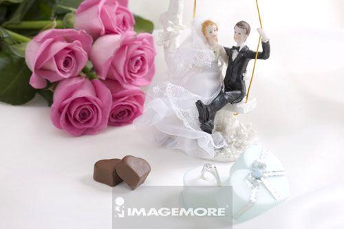 花,,巧克力,,小雕像