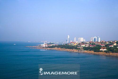 中国,山东省,青岛,汇泉湾景区,第一海水浴场