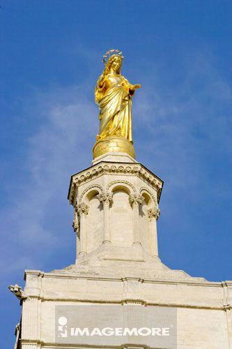 法国,普罗旺斯,亚维侬,教皇宫,圣母玛丽亚