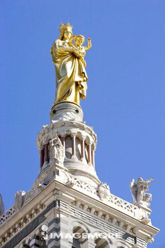 圣母玛丽亚, 守护圣母大教堂, 马赛, 普罗旺斯, 法国