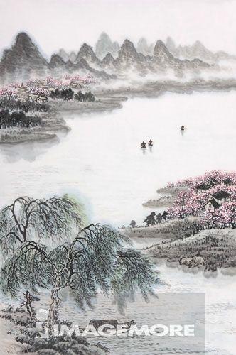国画,河流