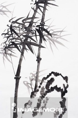 国画,竹子