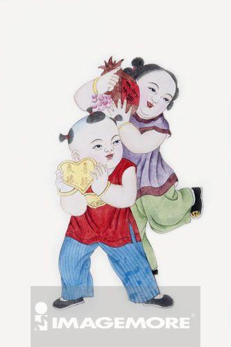 国画,吉祥图案,结婚