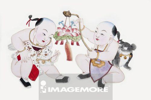 国画,吉祥图案,中秋节