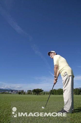 高尔夫,老年男人