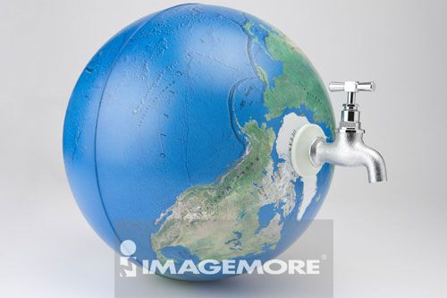 环保,水龙头,地球仪