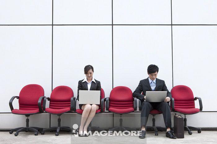 商业人物,使用笔记型计算机