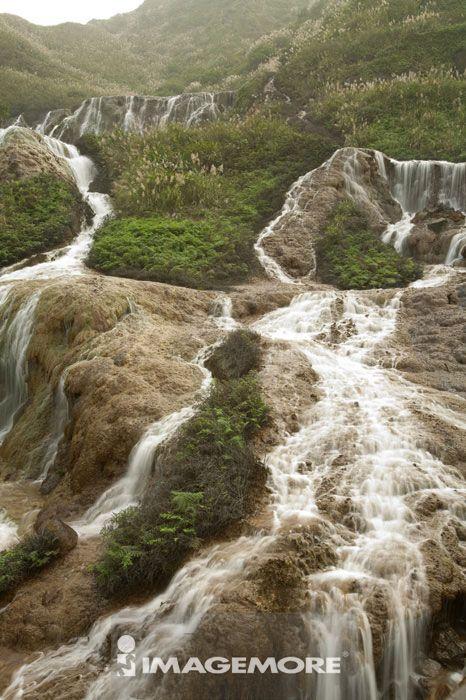 黄金瀑布,瀑布,金瓜石,台北,台湾,亚洲,