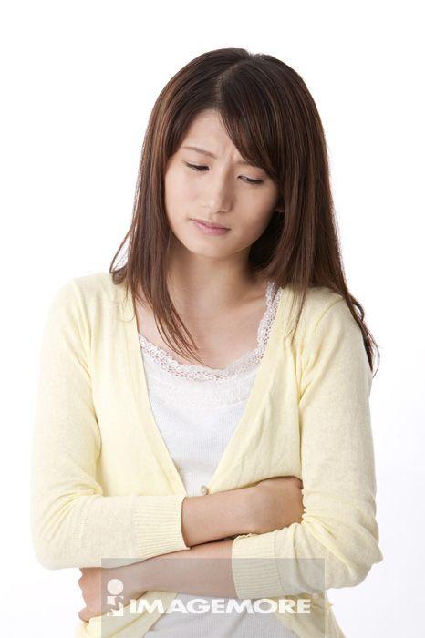 青年女人,生病,疼痛