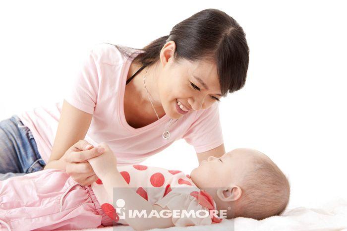 母亲,女婴儿