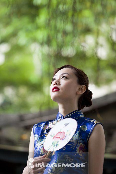 旗袍,青年女人