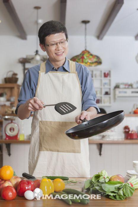 烹饪,中年男人