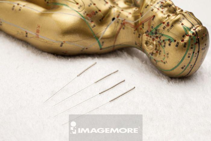 中医,中药,铜人,穴道,针灸针,