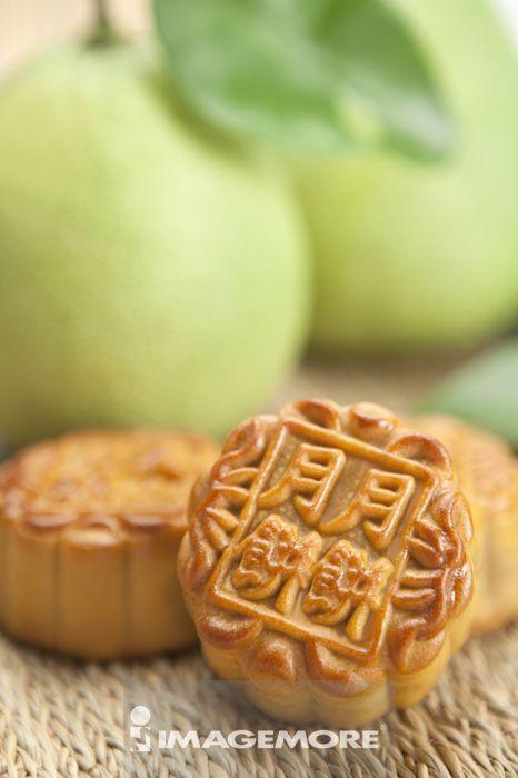 月饼,柚子,