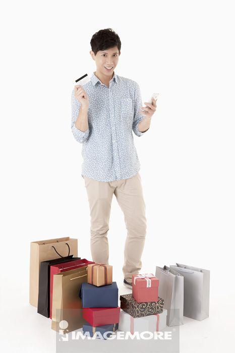 礼物,购物,中年男人