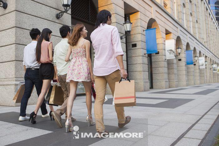 购物,朋友,逛街