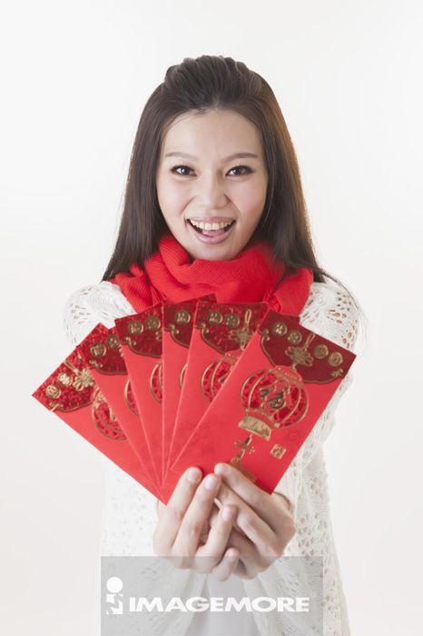 青年女人,紅包