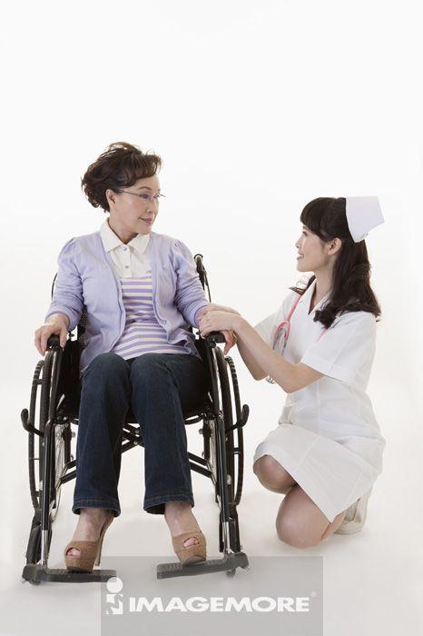 女护士,照顾,老年女人