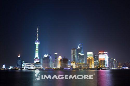 中国,上海,浦东,东方明珠塔,国际会议中心,金贸大厦,上海环球金融中心