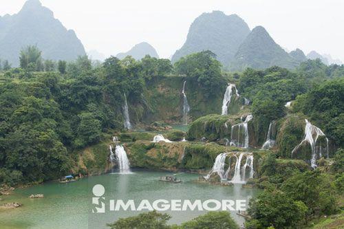 德天瀑布,广西省,中国,