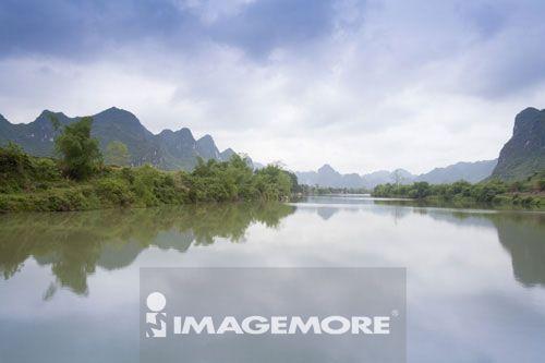 龙州左江,广西省,中国,
