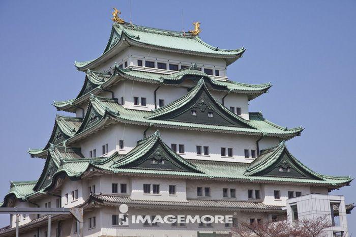 天守阁,名古屋城,金城,金鯱城,名古屋,爱知县,日本,亚洲