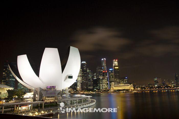 滨海湾,新加坡,亚洲