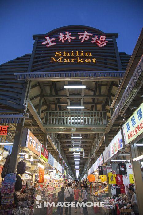 夜市,士林市场,士林,台北,台湾,亚洲,