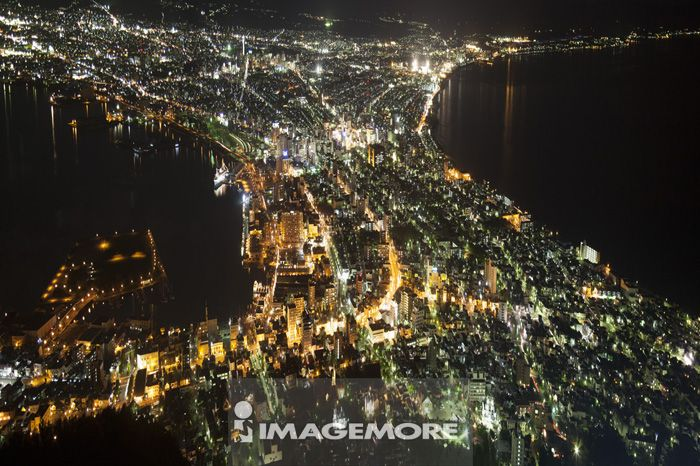 北海道,日本,亚洲,函馆市,函馆山,夜景,