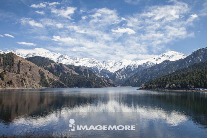 天山,天池,新疆自治区,中国,亚洲,湖泊,