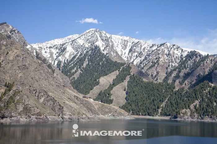天山,天池,新疆自治区,中国,亚洲,湖泊,山脉,