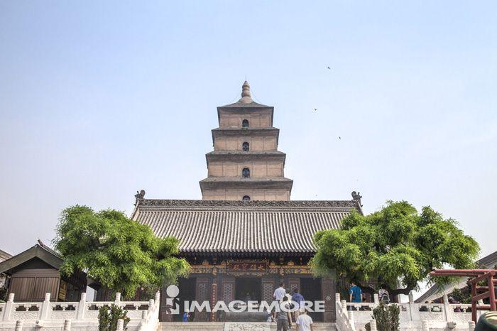 大雁塔,大慈恩寺,西安,陕西省,中国,亚洲,
