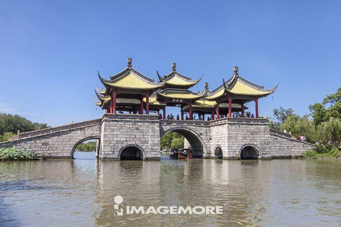 瘦西湖,扬州,江苏省,中国,亚洲,五亭桥,桥梁,