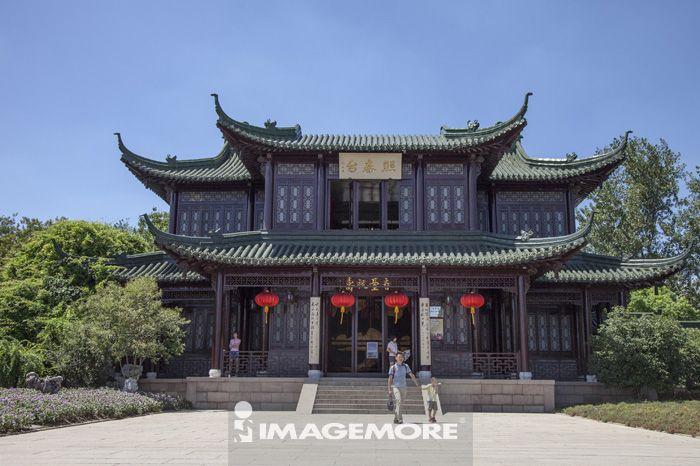 扬州风景手绘彩图