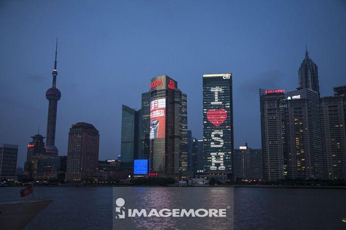 上海,中国,亚洲,外滩,浦东,城市远景,