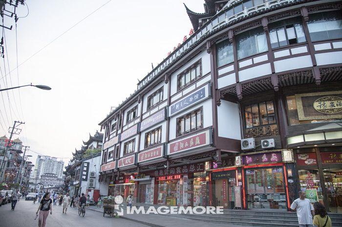 上海,中国,亚洲,豫园,中式建筑,街道