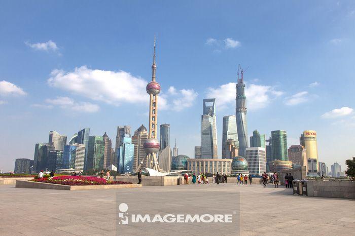 上海,中国,亚洲,外滩,上海东方明珠塔,
