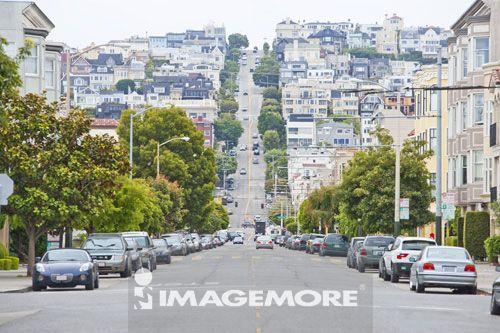 街景,旧金山,加州,美国,北美洲