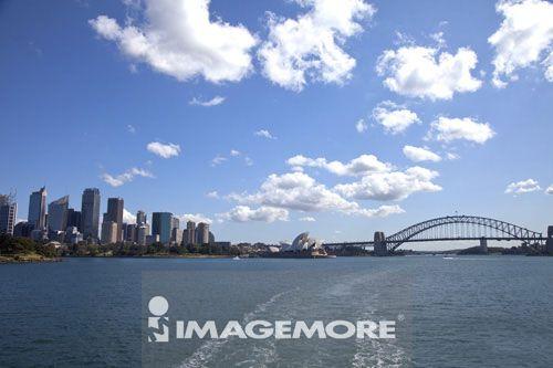 悉尼港湾大桥,城市远景,海湾,悉尼,澳大利亚