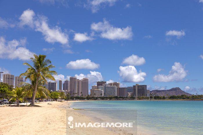 夏威夷,美国,海滩,大洋洲,欧胡岛,