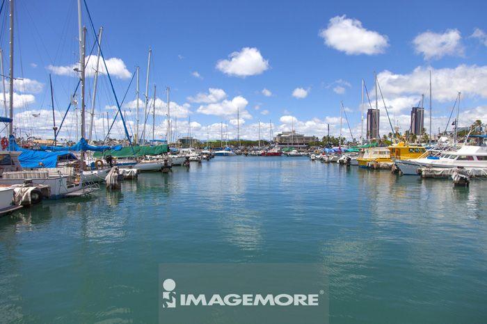 夏威夷,美国,海港,码头,大洋洲,欧胡岛,