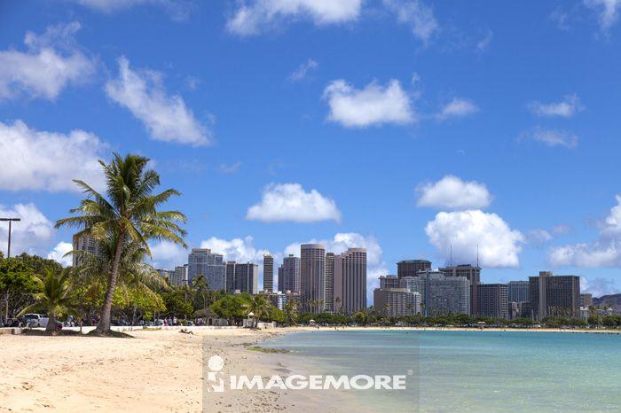 夏威夷,美国,大洋洲,,欧胡岛,海滩,
